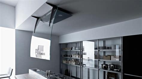 hotte cuisine design hotte îlot pratique et convivial pour une cuisine moderne