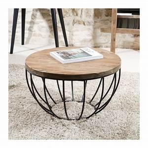 Table Basse Ronde Industrielle : table basse ronde noire 60x60 tinesixe ~ Teatrodelosmanantiales.com Idées de Décoration