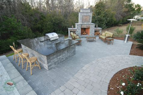 custom kitchen island cost how to build outdoor kitchen with fireplace