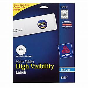 avery print to the edge permanent inkjet labels round 1 12 With avery labels circle white