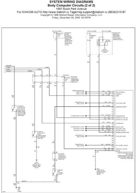 Buick Park Avenue Wiring Diagram by 1997 Buick Park Avenue System Wiring Diagrams
