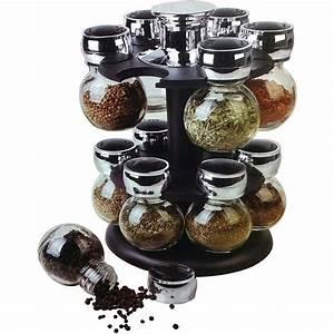 Manege A Epice : pr sentoir pices sur support rotatif et 12 pots en verre maison fut e ~ Teatrodelosmanantiales.com Idées de Décoration