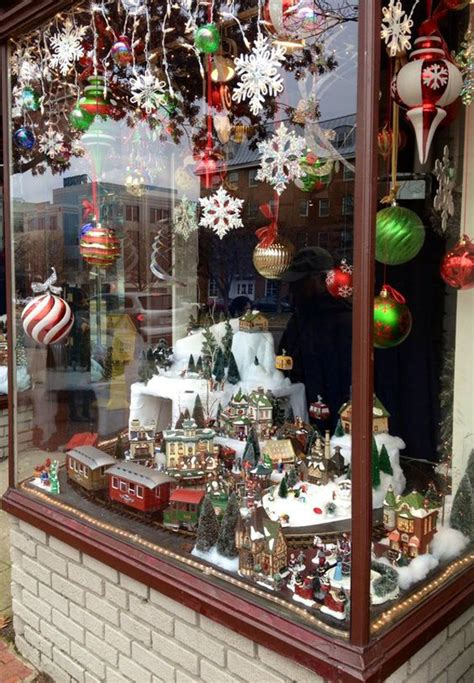 amazing christmas city miniature  window store display