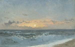 Sunset Over The Sea Painting by William Pye