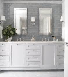 Grey and White Subway Tile Bathroom
