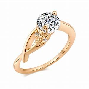 Gold Color Crystal Rings