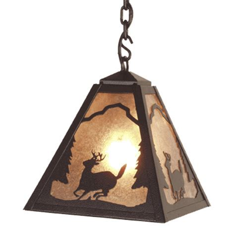 Rustic Chandeliers: Deer Timber Ridge Pendant Black Forest