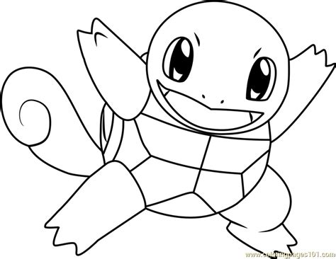 Squirtle Coloring Pages Natashamillerweb