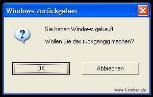 windows fehlermeldung zurueckgeben pc fun lustige