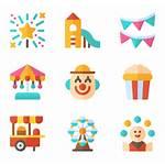 Park Amusement Fair Theme Clipart Icons Icon