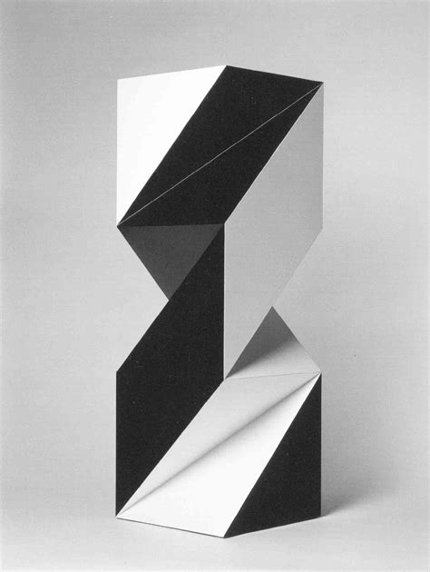 Abstract Shapes Sculpture by Spatial Contrast Ratios Sculpture Geometric Cubes