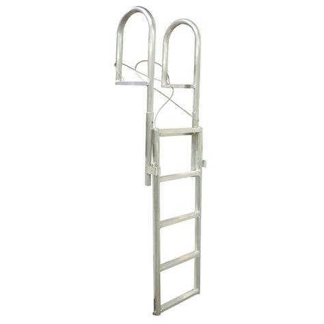 Boat Dock Ladder Parts by Dock Edge Slide Up Aluminum 5 Step Dock Ladder