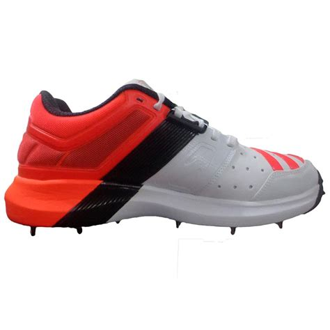 adidas adipower vector full spike cricket shoes red