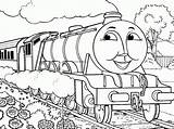 Coloring Pages James Steam Engine Train Thomas Printable Recognition Creativity Develop Ages Skills Focus Motor Fun Way sketch template