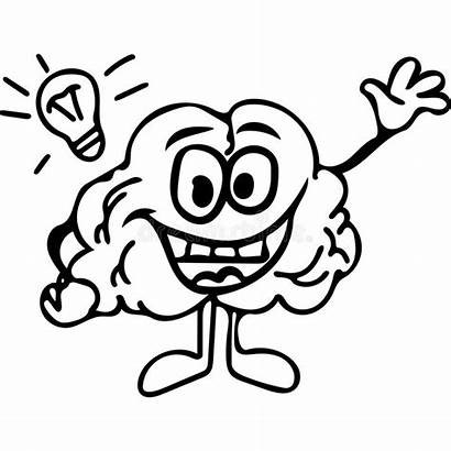 Brain Coloring Smart Smiling Funny Pages Drawing