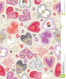 wrapping paper with hearts vector stock images image 23068174