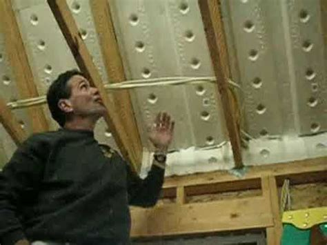 Insulating Cathedral Ceilings With Spray Foam by Insulate Roof Foam Baffles Ventilation Youtube