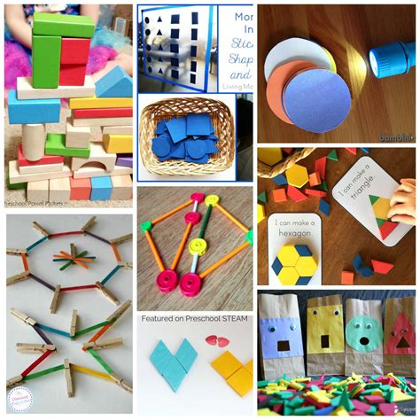 easy and shape activities for preschoolers preschool 903 | shapeactivitiecollagecopy