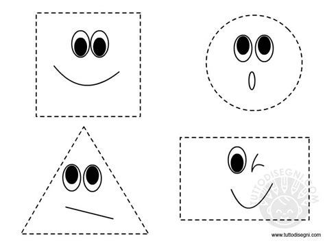 figure da colorare figure geometriche da ritagliare tuttodisegni