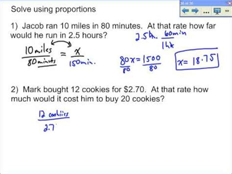 Word Problems Involving Proportions Youtube
