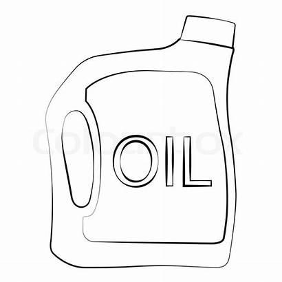 Oil Bottle Vector Outline Colourbox