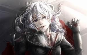 #long hair, #purple eyes, #anime, #anime girls, #gray hair ...