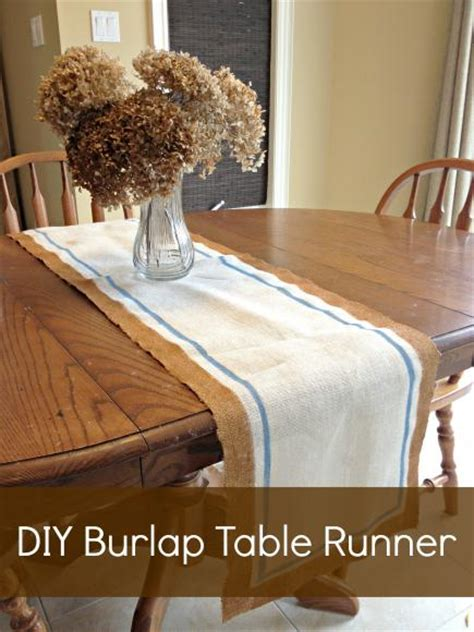 decoart blog crafts easy diy burlap table runner
