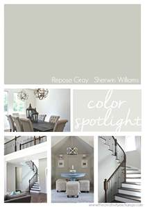 display home interiors repose gray from sherwin williams color spotlight