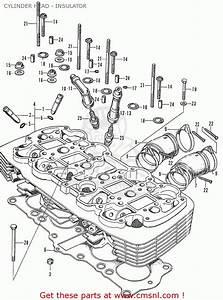 Honda Cb750k1 Four 1970 1971 Usa Cylinder Head