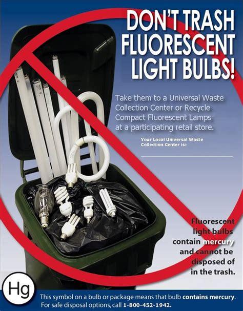 fluorescent light tube disposal fluorescent bulb information waste management maine