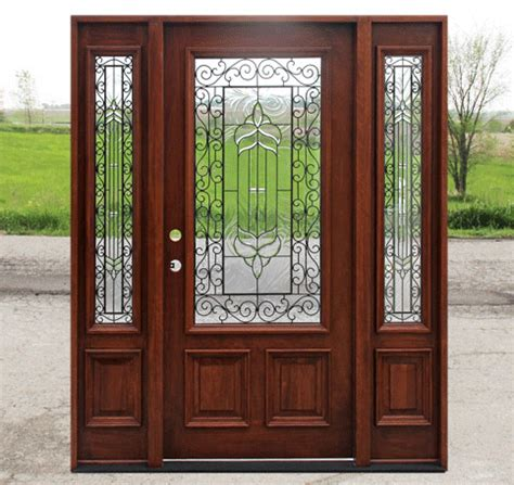 rustic glass doors knotty alder   sidelites sw