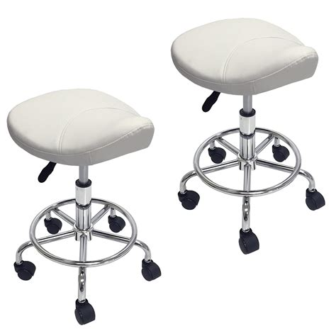 Dental Saddle Chair Canada by 2 Saddle Salon Stool Footrest Doctor Dentist Spa Office