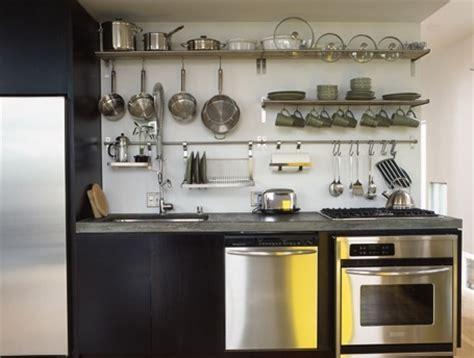 kitchen open rail storage systems remodelista