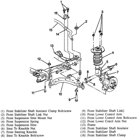 2001 chevrolet silverado front end diagram 2001 free