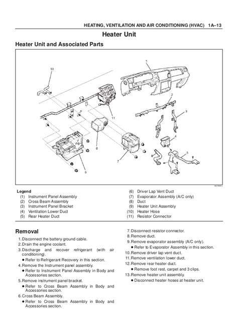 small engine service manuals 2001 isuzu rodeo instrument cluster 2001 isuzu trooper rodeo amigo vehicross axiom service repair manual