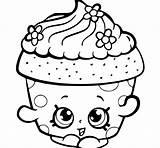 Cupcake Coloring Rocks Coloriage Shopkin sketch template