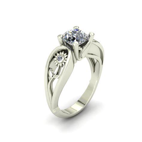 sunflower wedding ring sunflower custom engagement ring the goldsmiths ltd