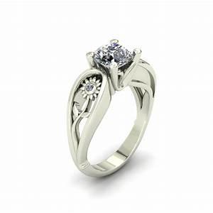 sunflower custom engagement ring the goldsmiths ltd With sunflower wedding ring