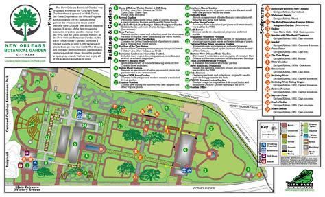 botanical garden maps  orleans city park