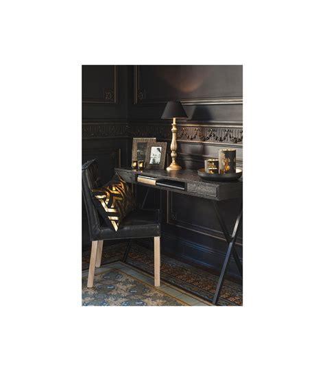 bureau metal noir bureau design en bois noir et métal 2 tiroirs jline