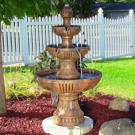 outdoor classics flower backyard 3 tier water