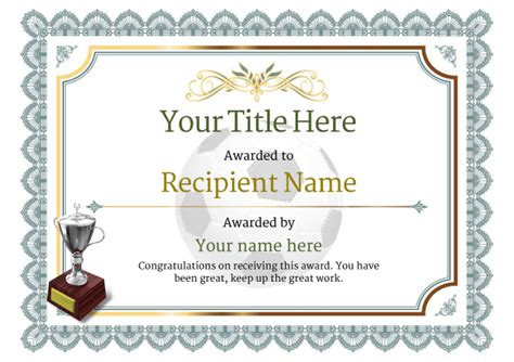 Soccer Award Certificate Templates Free by Free Uk Football Certificate Templates Add Printable