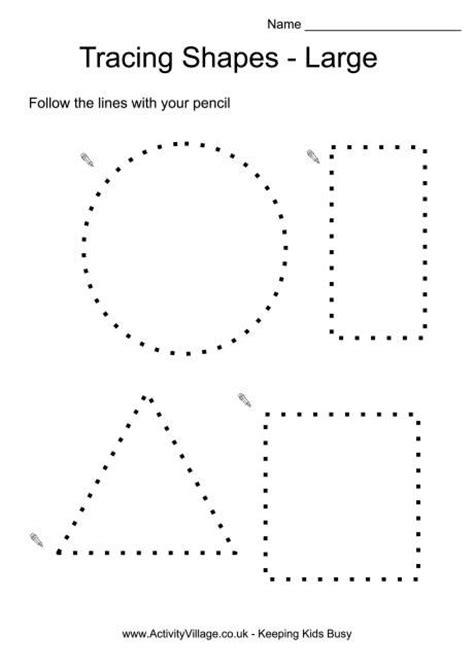 tracing shapes large activit 233 maternelle maths 282 | 58b45ced3d1b228c35cc6d19a80e279a preschool shapes preschool math