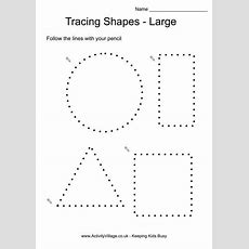 Tracing Shapes Large  Activité Maternelle  Preschool Worksheets, Tracing Shapes, Shapes Worksheets