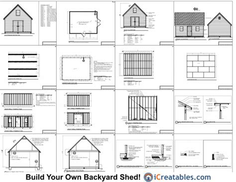 16 215 20 storage building plans 187 woodworktips