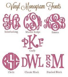 Free Circle Monogram Font Vinyl