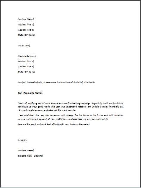 sample refusal letter template formal word templates