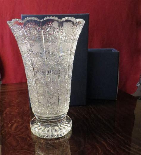 vase brands large gorgeous bohemian cut glass vase