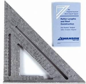 Swanson Tool Swanson Na202 Metric 250mm Speed Square   25