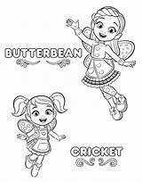 Coloring Cafe Printable Butterbeans Butterbean Café sketch template